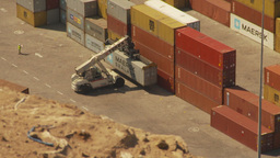 HD2009-11-18-39 Arica aerial containor port Stock Video Footage