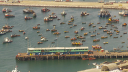 HD2009-11-18-41 Arica aerial harbor and boats Stock Video Footage