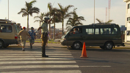 HD2009-11-18-61 Arica chilean police directs traffic Stock Video Footage
