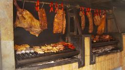 HD2009-11-24-5b big BBQ Stock Video Footage
