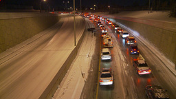 HD2009-11-24-15 snowstorm stopped traffic Stock Video Footage