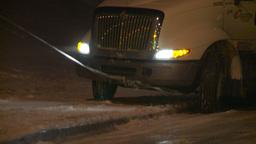 HD2009-11-24-21 snowstorm tow truck jacknifed semi Footage
