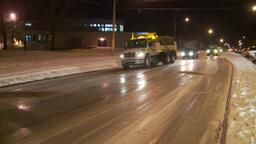 HD2009-11-24-25 snowstorm City sander Stock Video Footage