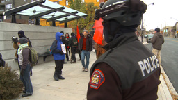 HD2009-10-5-1 peaceful protest Stock Video Footage