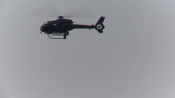 HD2009-10-5-7 police helicopter Stock Video Footage