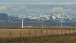 HD2009-10-6-2 wind turbines Stock Video Footage