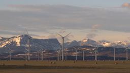 HD2009-10-6-14 wind turbines Stock Video Footage