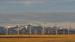 HD2009-10-6-18 wind turbines ws Stock Video Footage