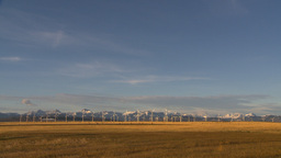 HD2009-10-6-22 wind turbines Stock Video Footage