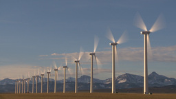HD2009-10-6-24 wind turbines TL Stock Video Footage