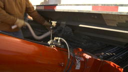 HD2009-10-6-26 grain truck mustard seed into auger Stock Video Footage