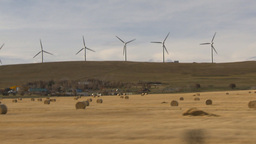 HD2009-10-7-1 drive along wind turbines Footage