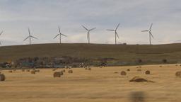 HD2009-10-7-1 drive along wind turbines Footage