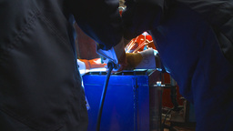 HD2009-9-8-1 welding montage Stock Video Footage