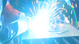 HD2009-9-8-1 welding montage Stock Video Footage