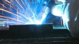 HD2009-9-8-3 welding Stock Video Footage