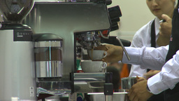HD2009-9-12-2 making cappuchino Stock Video Footage