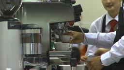HD2009-9-12-2 making cappuchino Stock Video Footage