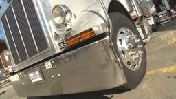 HD2009-8-15-1 Shiny Big rig dutch tilt spin Stock Video Footage