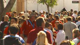 HD2009-8-15-3 festival crowd Stock Video Footage