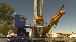 HD2009-9-17-1 drill rig 2 shot Stock Video Footage