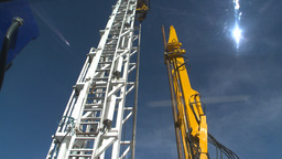 HD2009-9-17-8 drill rig montage instruments Stock Video Footage