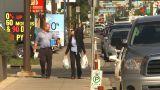 HD2009-9-31-4 People On Sidewalk LL stock footage