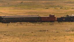 HD2009-9-31-30 steam train across prairie Footage