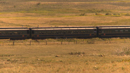 HD2009-9-31-30 steam train across prairie Stock Video Footage