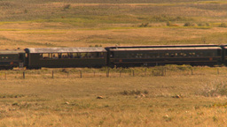 HD2009-9-31-30 steam train across prairie Stock Video Footage