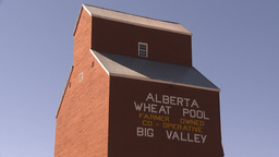 HD2009-9-32-8 grain elevator tilt down Stock Video Footage