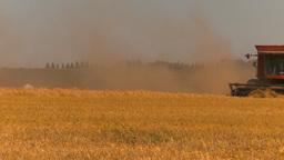 HD2009-9-32-12 grain harvest combines Footage