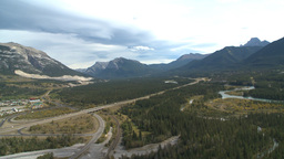 HD2009-9-33-3 aerial Bow valley Stock Video Footage