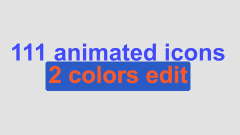 111 animated icons in out pack After Effects Template