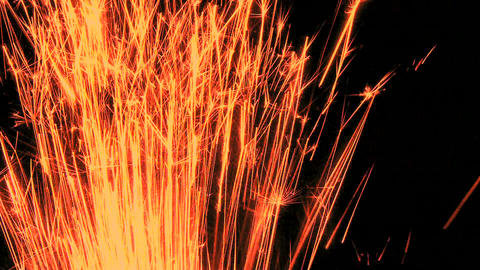 Red Sparks Shooting Up stock footage