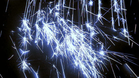 Blue sparks raining down 02 Live Action