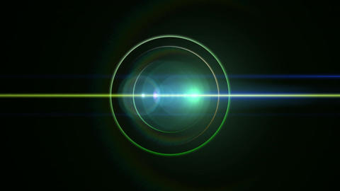 Opening intro Flash light flare B 1 green 4k Animation