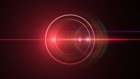 Opening intro Flash light flare B 1 red Long 4k Animation