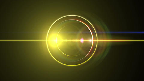 Opening intro Flash light flare B 1 yellow Long 4k Animation