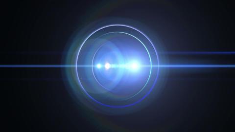 Opening intro Flash light flare B 2 blue 4k Animation