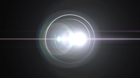 Opening intro Flash light flare B 2 white 4k Animation