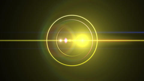 Opening intro Flash light flare B 2 yellow 4k Animation