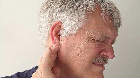 man with earache Footage