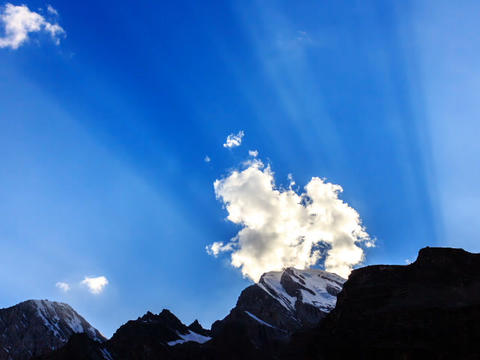 Mountains with clouds. TimeLapse. Pamir, Tajikista Footage