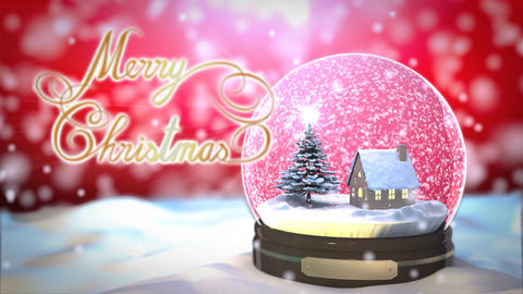 Christmas Snow globe Snowflake with Snowfall on Re Animation