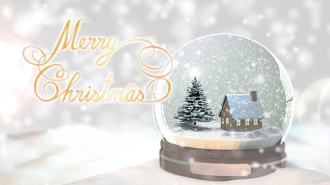 Merry Christmas Background by Christmas tree and h Animation