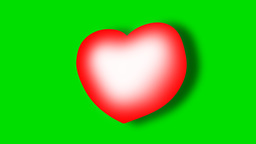 FLOATING HEART ICON with drop shadow Animation