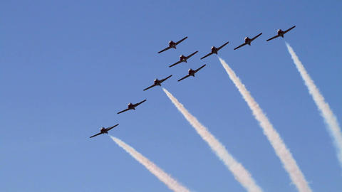 Aerobatic flying team Live Action