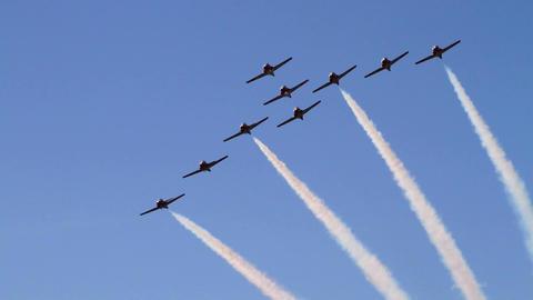 Aerobatic Flying Team stock footage