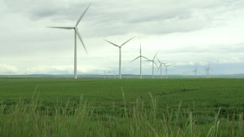 Wind Farm Turbines Footage